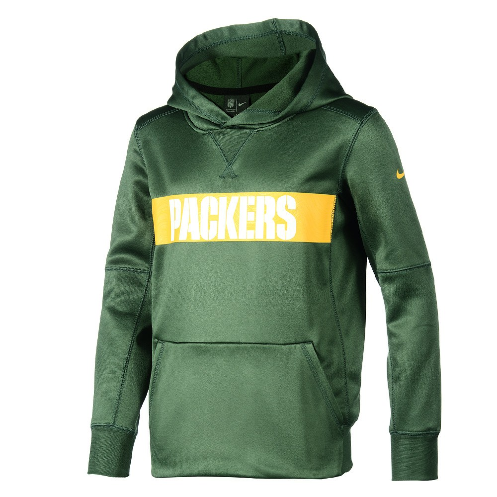 fresh styles exclusive shoes wholesale dealer Nike Green Bay Packers Hoodie Therma Kinder