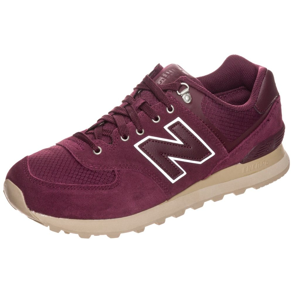 new balance m574 d sneakers bordeaux