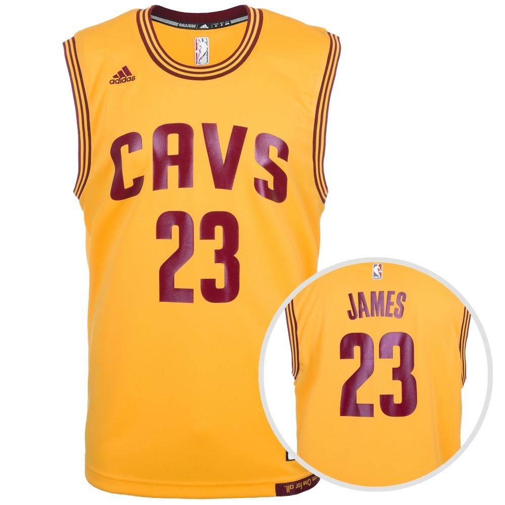 new style f4570 59901 Adidas Cleveland Cavaliers Replica Trikot James