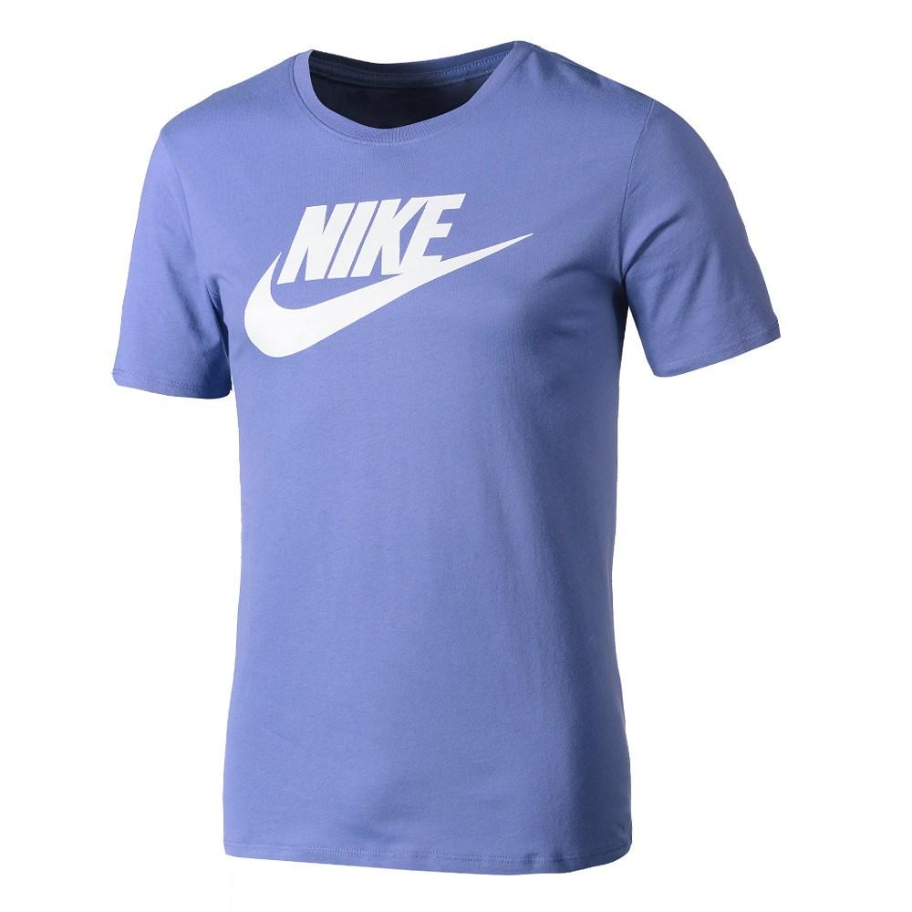 nike t-shirt futura icon babyblau/weiß - kaufen