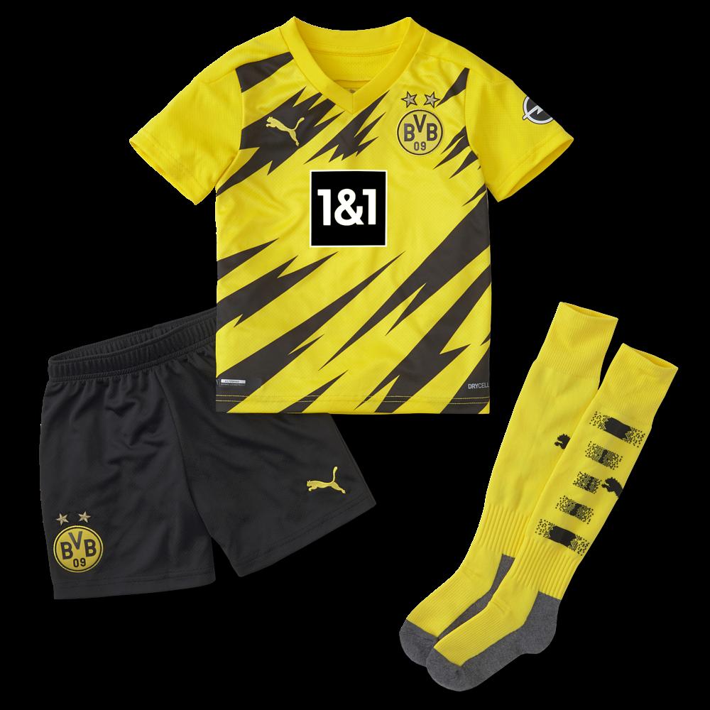 Puma Borussia Dortmund Trikot Heim 2020 2021 Mini Kit Kaufen Bestellen Im Bild Shop