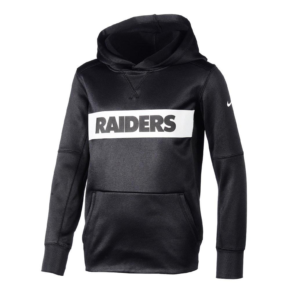 best website b5296 88fc7 Nike Oakland Raiders Hoodie Therma Kinder