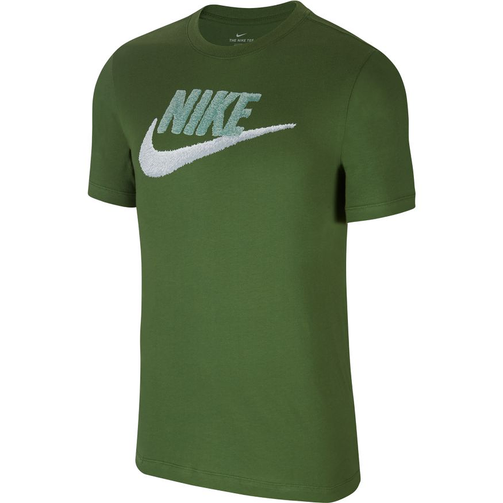 nike t-shirt futura icon grün/silber - kaufen & bestellen
