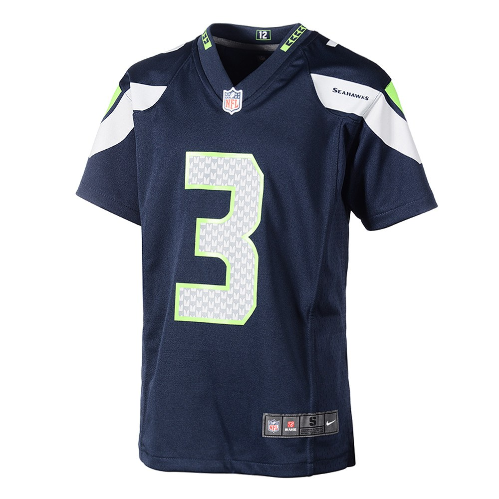 wholesale dealer 8f791 c403e Nike Seattle Seahawks RUSSELL WILSON 3 Trikot Kinder