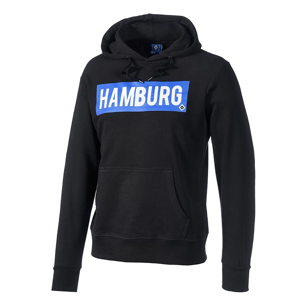 adidas Hamburger SV Anthem Squad Kapuzenjacke blau weiß