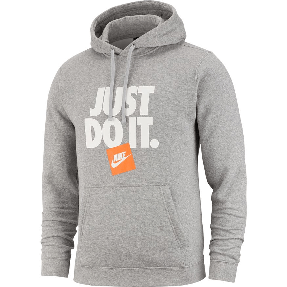 Nike Hot Box JDI Pullover Men's Hoodie Dark Grey HeatherOrange 928719 063