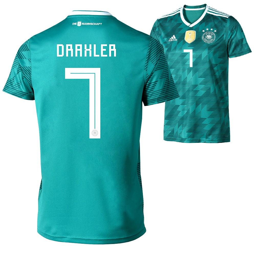 Adidas Deutschland WM 2018 DFB Trikot Auswärts DRAXLER Kinder