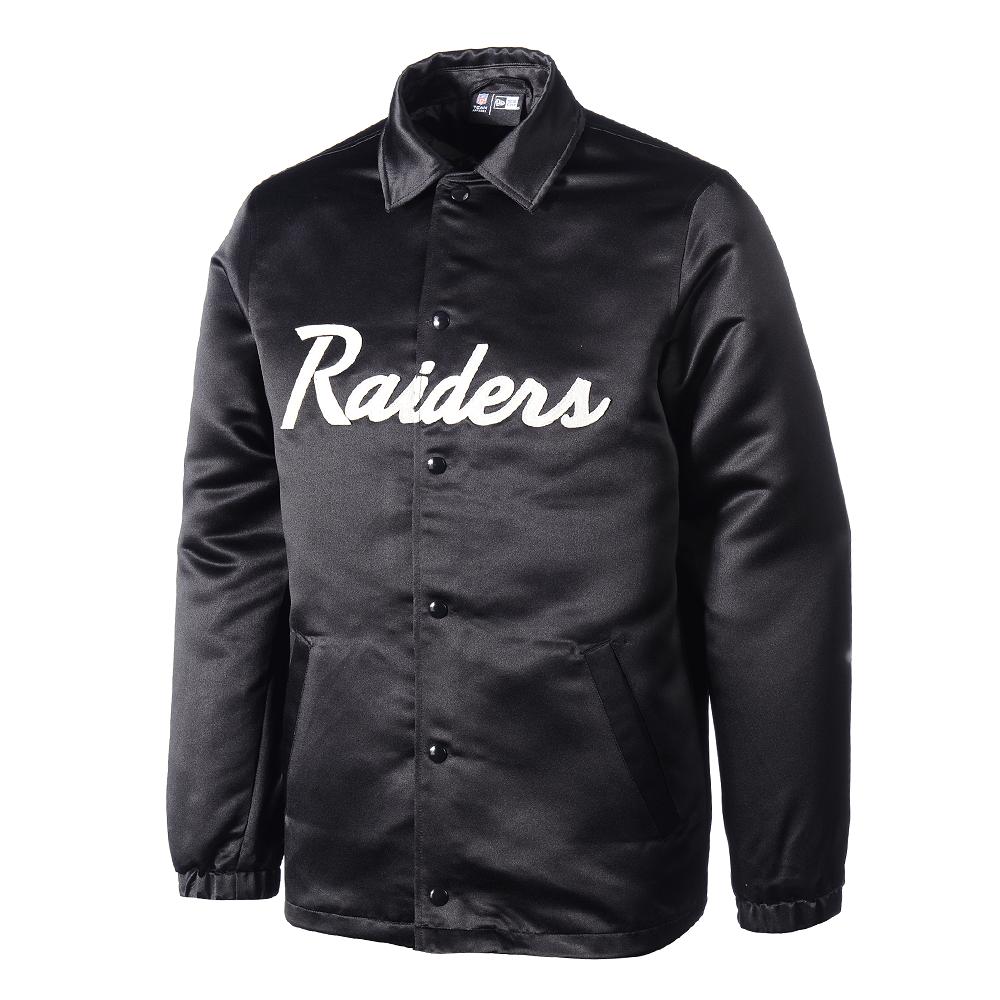 Offizielle Website klassische Stile günstig kaufen New Era Oakland Raiders Jacke Satin Coach