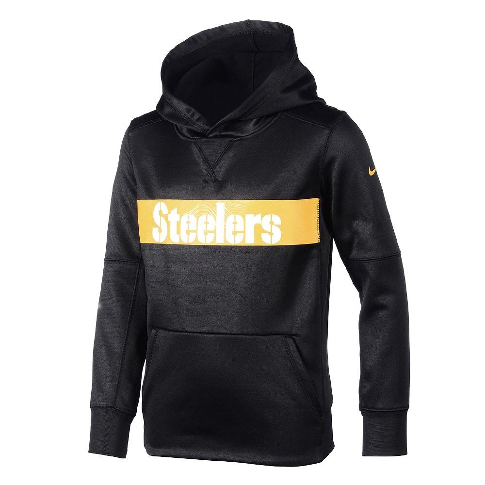 sports shoes 5e076 c3f3e Nike Pittsburgh Steelers Hoodie Therma Kinder