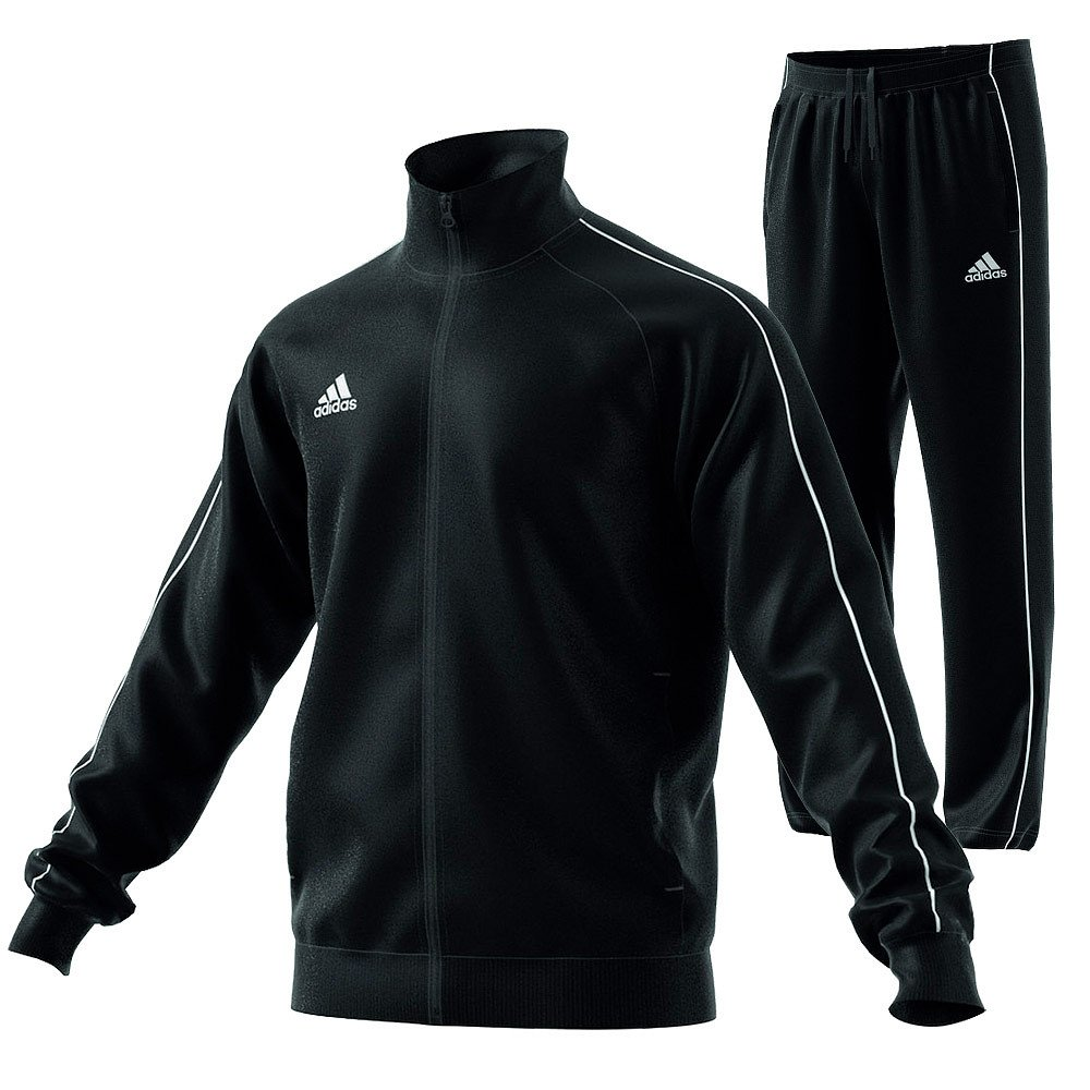 adidas trainingsanzug schwarz rot