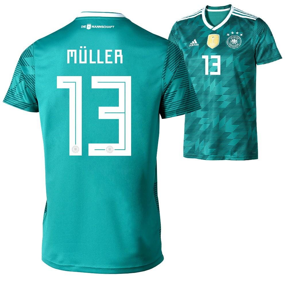 Neu Adidas Deutschland WM 2018 DFB Trikot Auswärts MÜLLER  Rabatt bekommen