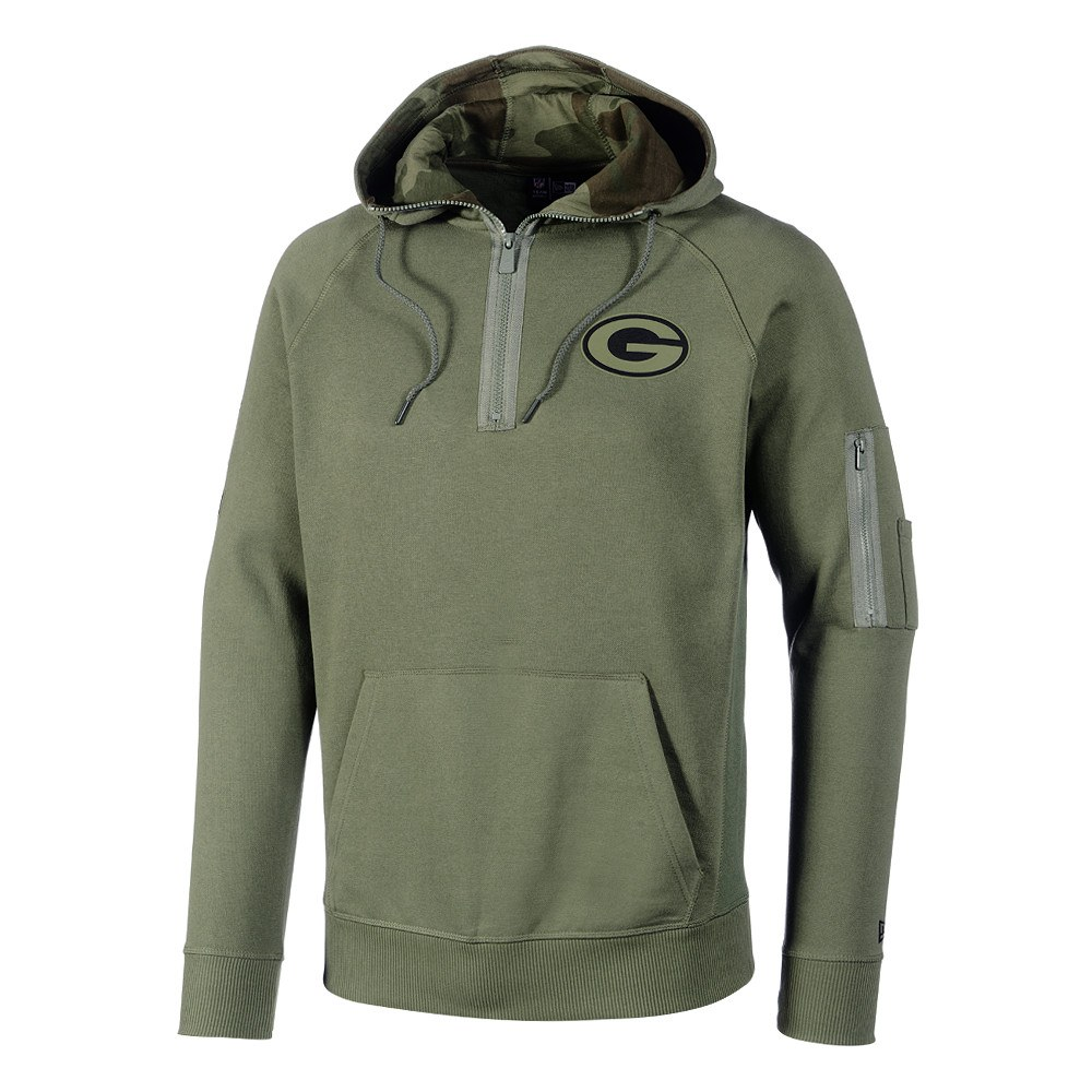 lowest price 4fd8e 3cb80 New Era Green Bay Packers Hoodie Halfzip Camo Collection