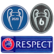 Champions League 6 Siege Groß CL Logo 3er Set WINNER 2020