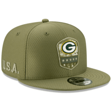 New Era Green Bay Packers Cap Salute To Service 2019 9FIFTY oliv