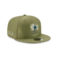 New Era Dallas Cowboys Cap Salute To Service 2019 9FIFTY oliv