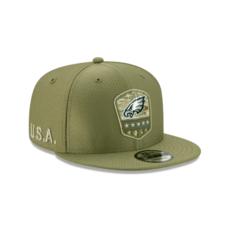 New Era Philadelphia Eagles Cap Salute To Service 2019 9FIFTY oliv