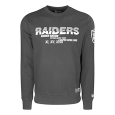 New Era Oakland Raiders Sweatshirt Wordmark Slogan schwarz