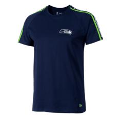 New Era Seattle Seahawks T-Shirt Raglan Shoulder Print blau