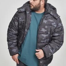 URBAN CLASSICS Winterjacke Hooded Camo Puffer darkcamo