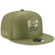 New Era New Orleans Saints Cap Salute To Service 2019 9FIFTY oliv