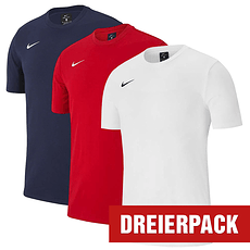 Nike T-Shirt Club Set 1 3er Pack rot/dunkelblau/weiß