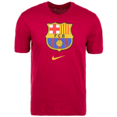 Nike FC Barcelona T-Shirt Evergreen Crest rot