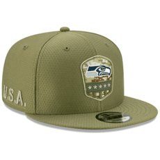 New Era Seattle Seahawks Cap Salute To Service 2019 9FIFTY oliv