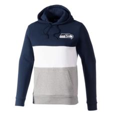 New Era Seattle Seahawks Hoodie Colourblock blau/weiß/grau