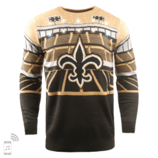 Forever Collectibles New Orleans Saints Ugly Sweater Bluetooth schwarz/gold
