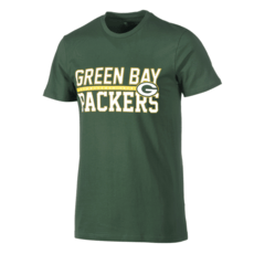New Era Green Bay Packers T-Shirt Stacked Wordmark grün
