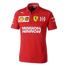 Ferrari Poloshirt Team 2019 rot