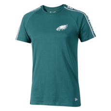 New Era Philadelphia Eagles T-Shirt Raglan Shoulder Print grün