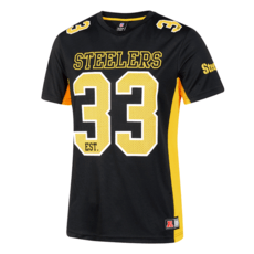 Fanatics Pittsburgh Steelers T-Shirt Moro Poly Mesh schwarz