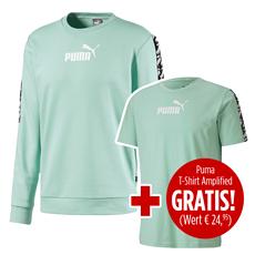 Puma Sweatshirt Amplified mit T-Shirt Amplified 2er Set mintgrün