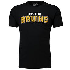 Fanatics Boston Bruins T-Shirt Graphic Wordmark schwarz