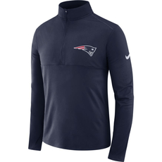 Nike New England Patriots Dri-FIT Longsleeve Halfzip 2019/2020 Blau