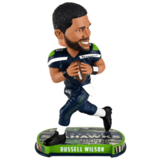 Forever Collectibles Seattle Seahawks Bobblehead Russell Wilson blau