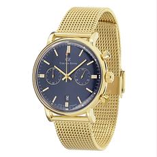 Carl von Zeyten Herrenuhr Quarz Uhr Bühlot Armband Edelstahl Gold