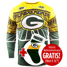 Forever Collectibles Green Bay Packers Ugly Sweater plus Weihnachtsstrumpf