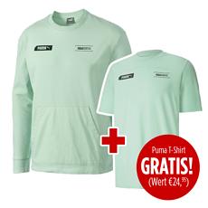 Puma Sweatshirt NU-TILITY mit T-Shirt NU-TILITY 2er Set Mint