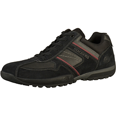 Dockers Halbschuhe Lederimitat/Textil schwarz/grau