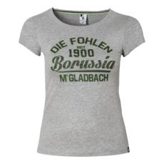 Borussia Mönchengladbach T-Shirt Damen - DIE FOHLEN Grau