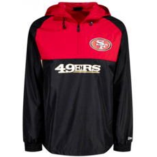 New Era San Francisco 49ers Windbreaker schwarz/rot