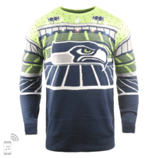 Forever Collectibles Seattle Seahawks Ugly Sweater Bluetooth blau/grün