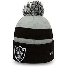 New Era Las Vegas Raiders Beanie Striped Cuff Knit Kids schwarz