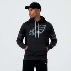 New Era Philadelphia Eagles Hoodie Tonal Black schwarz