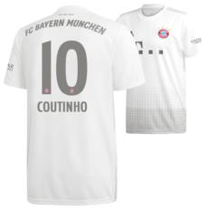 Adidas FC Bayern München Auswärts Trikot COUTINHO 2019/2020 Kids