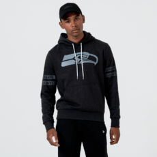 New Era Seattle Seahawks Hoodie Tonal Black schwarz