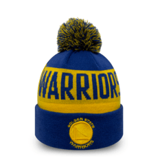 New Era Golden State Warriors Beanie Team Tonal Knit blau/gelb