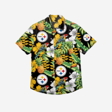 Forever Collectibles Pittsburgh Steelers Hemd Floral Button Up schwarz